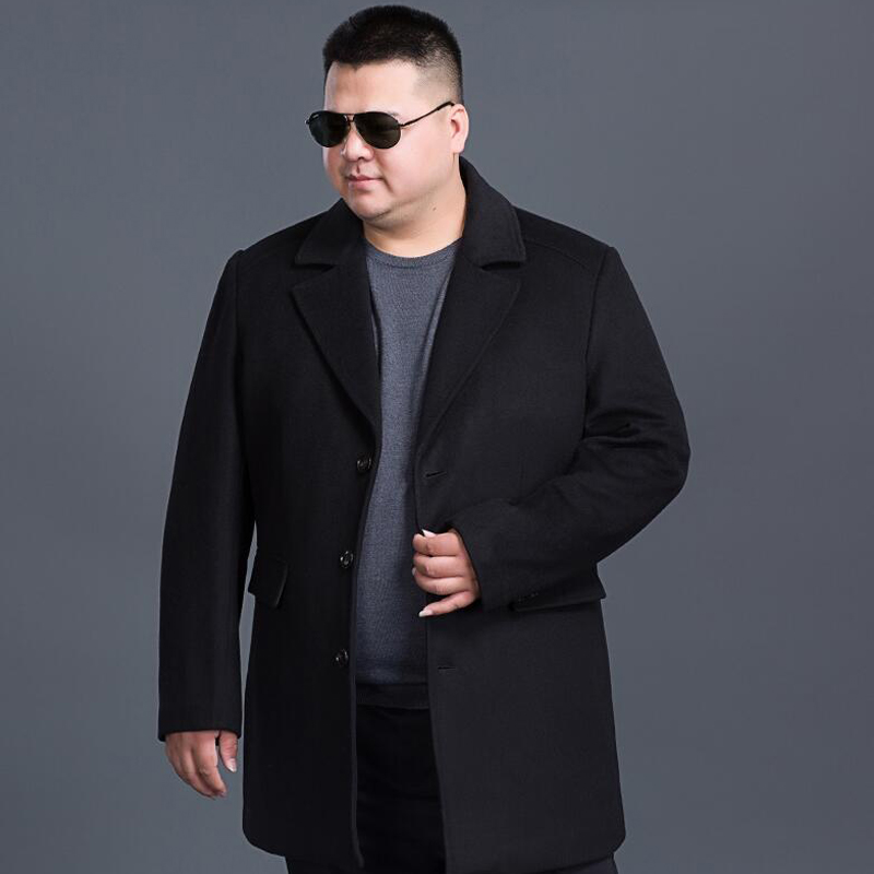 Outwears Fits-Coats Jackets Business Wool Winter Mens Slim And 8xl Long Sobretudo Windproof