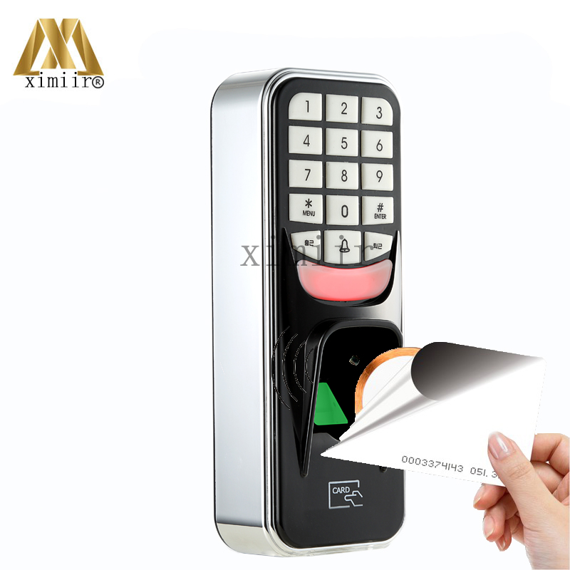 Single Door Biometric Fingerprint Door Access Control System With 125KHZ RFID Card Reader 500 Users Door Access Controller F801 125khz rfid card access control video door phone system wired 7 inch color screen video door bell with rfid card reader
