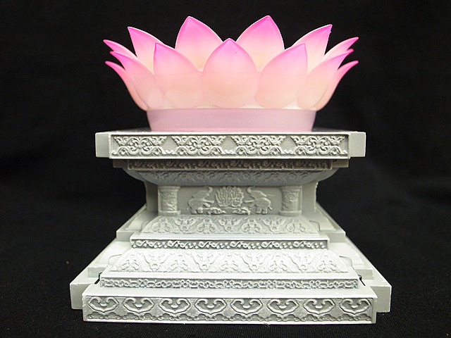 Us 2799 Lc Model Saint Seiya Myth Cloth Gold Shaka Virgo Led Light Lotus Flower Stand Base In Action Toy Figures From Toys Hobbies On