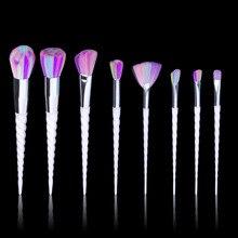 8 Pcs Soft Makeup Brushes Face Eyes Cosmetic Tools Foundation Eyshadow Blusher Powder Blending Brush Set