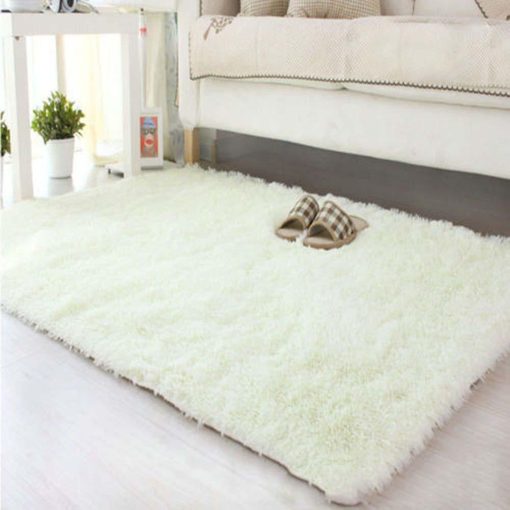 Wit Fluffy Tapijt 80*120cm Large Size Fluffy Rugs Anti Skiding Shaggy Area