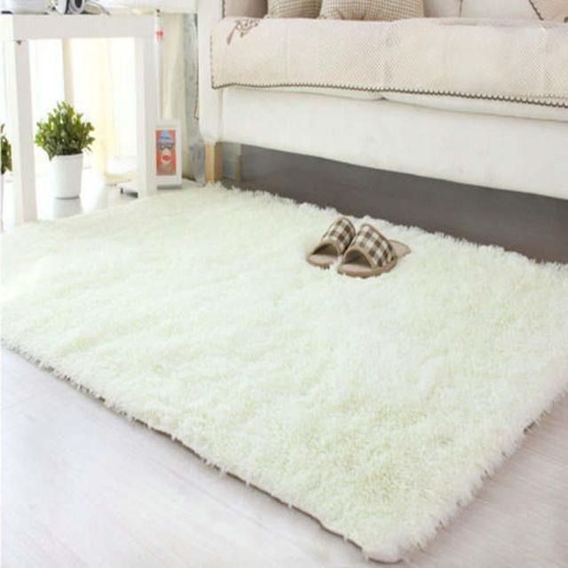 80 120cm Large Size Fluffy Rugs Anti Skiding Shaggy Area Rug Dining Room Carpet