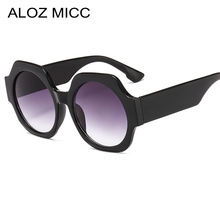 ALOZ MICC Luxury Women Oversized Round Sunglasses 2019 New Fashion Gradient Shades Glasses UV400 Q222