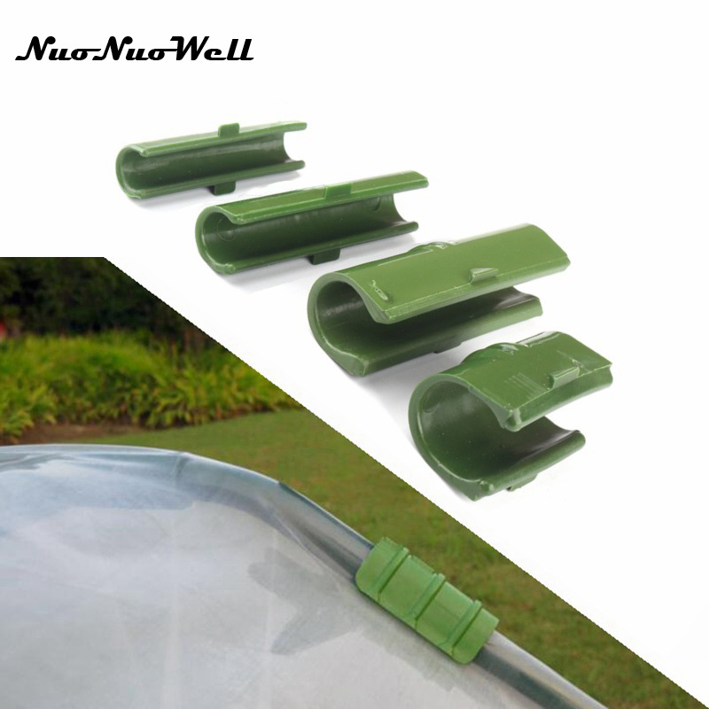 10pcs 25mm Rod Clip Plant Greenhouse Plastic Film Net Fixed Pipe Clamps