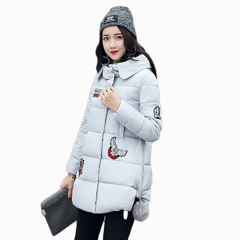 2018 NEW HOT SALE WOMEN WINTER JACKER MEDIUM LENGTH TUREN DOWN COLLOR THICKEN WARM FEMALE PARKAS COTTON WADDED COAT ZL465