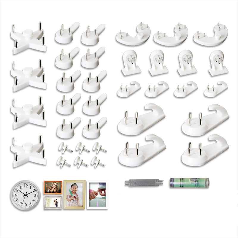 1 Set DIY photo seamless needle nail living room wall invisible hide Hangings single Hooks for key kitchen bathroom hook up