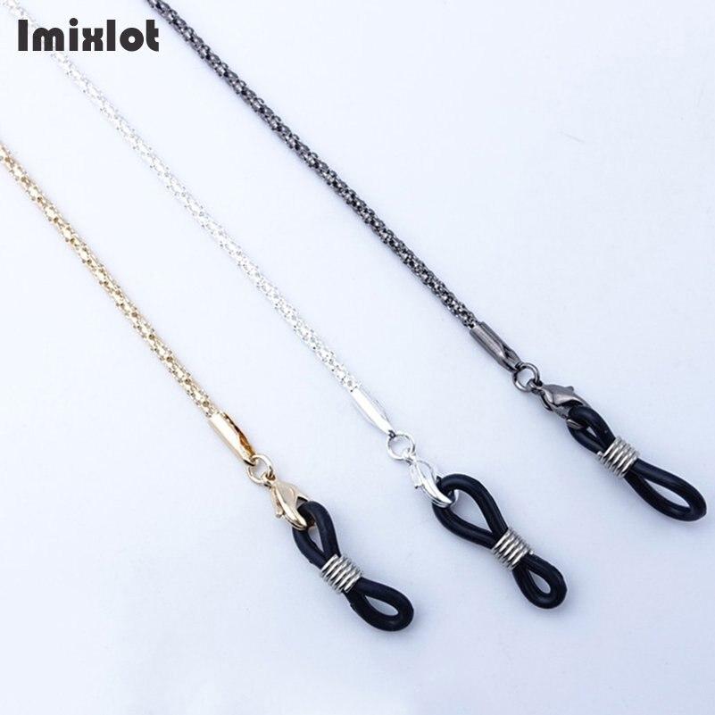 Ausdrucksvoll Lesebrille Kette Sonnenbrille Halter Neck Strap Metall Seil Kristall Halskette Lanyards Accessoires