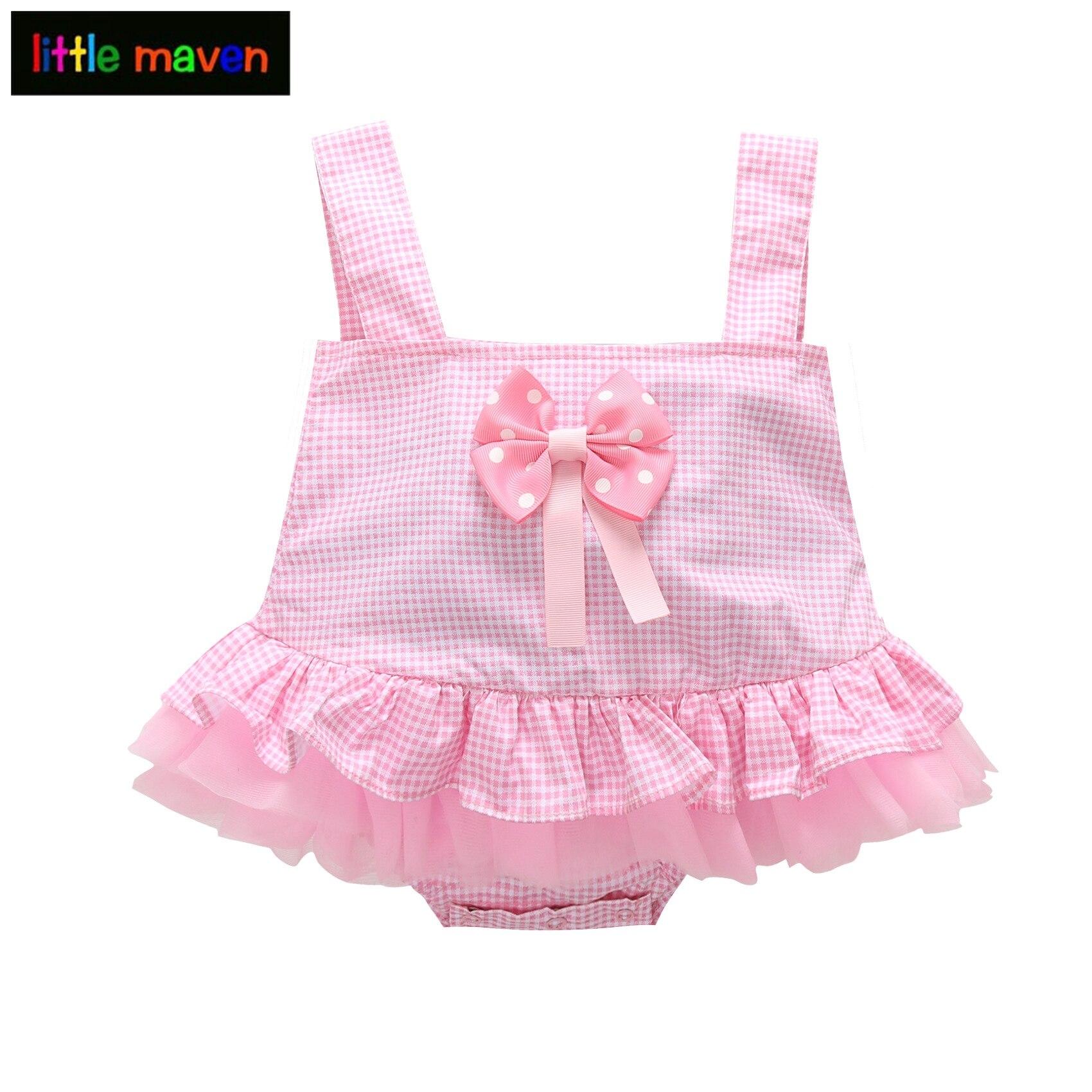Vajzat Vajza Rompers Vajza Vajzat Veshje Veshjet Roupas Pink Plaid - Veshje për bebe
