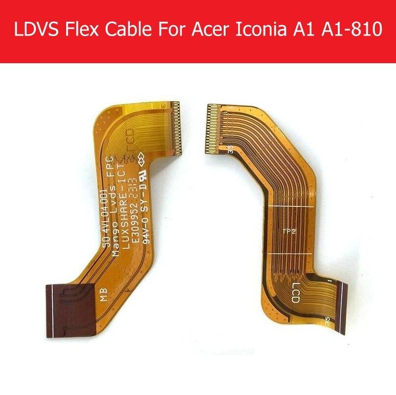 100% Genuine LCD LVDS Cavo Della Flessione Per Acer Iconia A1 A1-810 A1-811 LCD Connessione della Scheda Madre Flex Riparazione Sostituzione Del Nastro