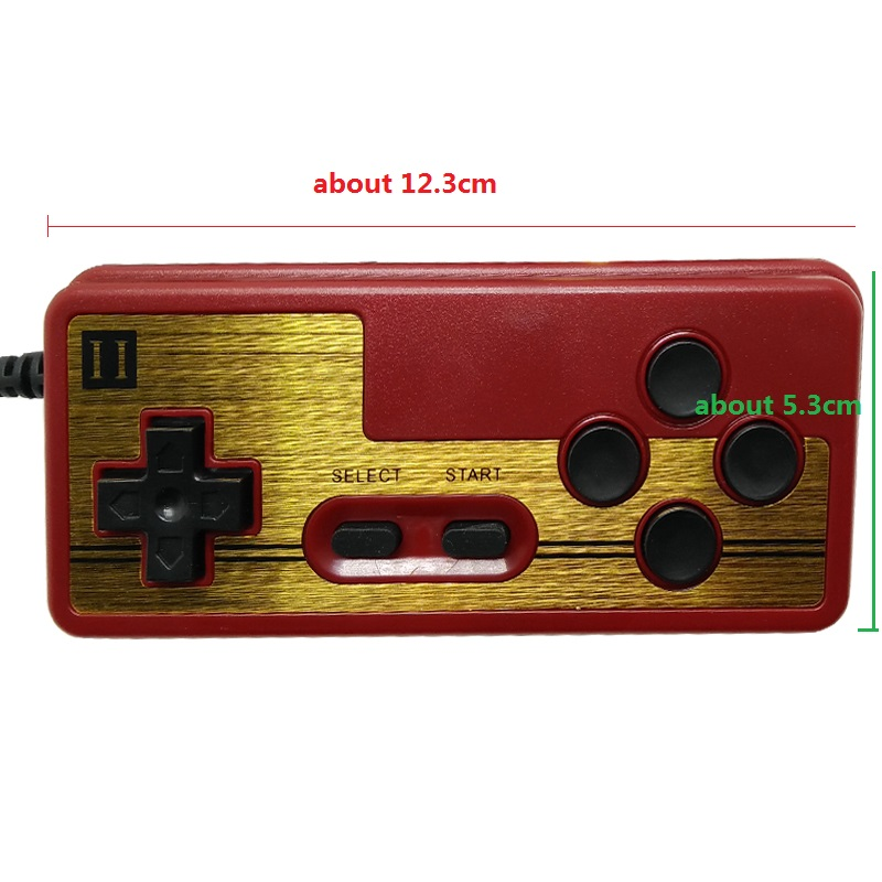 9 Pin Backup Game Controller for Console Games 8bit TV Game player FC red and white machine game handle in Gamepads from Consumer Electronics