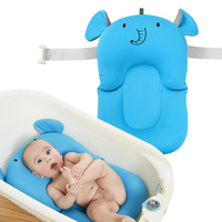 Baby Shower Portable Air Cushion Bed Babies Infant Baby Bath Pad Non Slip Bathtub Mat NewBorn Safety Security Bath Seat Support