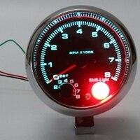Mayitr المعمرة السيارات العالمي 3.75 بوصة السيارات tacho مقياس سرعة الدوران 12 فولت مع الملونة ضوء التحول 0-8000 دورة في الدقيقة