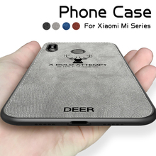 Fashion Deer Canvas Cover for Xiaomi Pocophone F1 Mi 8 9 Lite Case Soft Shockproof Redmi Note 4 5 6 7 Mix 2s Max 2 3