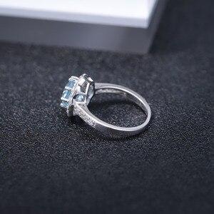 Image 5 - Gem S Ballet Nieuwkomers Natuurlijke Sky Blue Topaz Ringen Echt 925 Sterling Silver Wedding Engagement Sieraden Voor Vrouwen