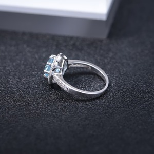 Image 5 - Gems Ballet New Arrivals Natural Sky Blue Topaz Rings Genuine 925 sterling silver Wedding Engagement jewelry For Women