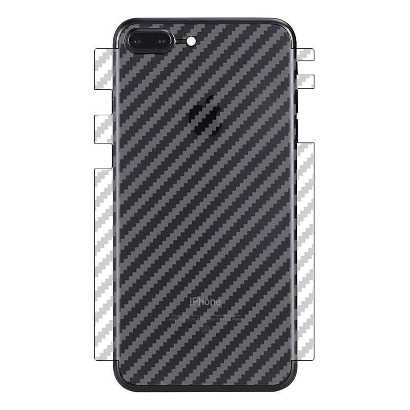 5 Pcs Anti-Vingerafdruk Carbon Fiber Back Film Voor Iphone Xs Max Xr 3D Beschermende Film Voor Iphone 11 pro 8 7 Plus Screen Protector