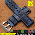 Camouflage 22mm 24mm Soft Silicone Rubber Watchband Durable Stainless Steel Pin Buckle for Panerai Men Watch Bracelet+Free Tools
