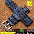 Camuflagem 22mm 24mm Pulseira De Borracha De Silicone Durável Macio Homens Pin Buckle para Panerai Assista Pulseira de Aço Inoxidável + Ferramentas gratuitas