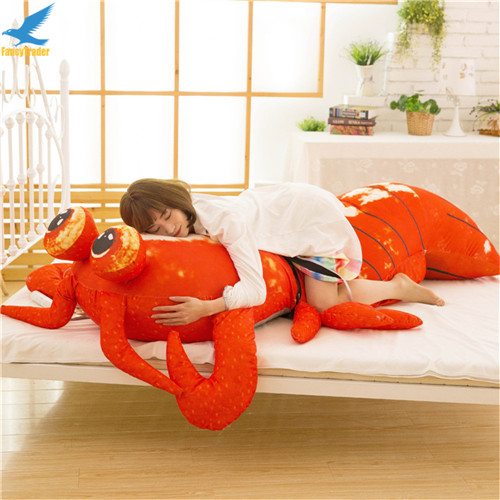 Fancytrader Jumbo Pop Anime Mantis Shrimp Plush Toy Giant Stuffed Soft Simulated Sea Animals Lobster Doll for Adult and Children (6)