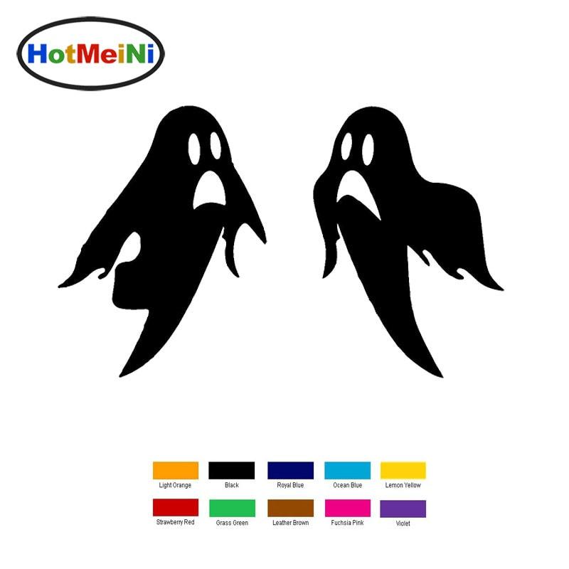 Hotmeini 15x14.5 см Хэллоуин призрак автомобиля Стикеры для грузовик окно бампер авто внедорожник двери ноутбук каяк виниловая наклейка черный/се...