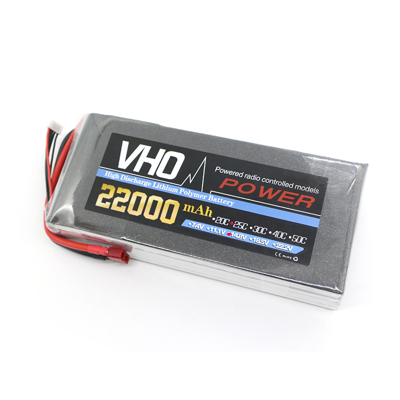 VHO RC lipo battery 14.8v 22000mAh 25C 4s RC TO XT60/XT90/T/EC5  airplane battery factory-outlet goods of consistent quality mos rc airplane lipo battery 3s 11 1v 5200mah 40c for quadrotor rc boat rc car