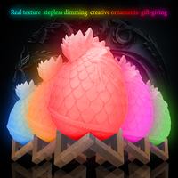 Geoeon 2019 new LED dragon egg light 3D printing lamp bedroom gift remote control 16 color night light A534