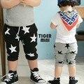 O envio gratuito de 2015 de verão Das Crianças Dos Miúdos calças pentagrama impressão 2 cores harem pants calças 2-6 T meninos calça e meninas