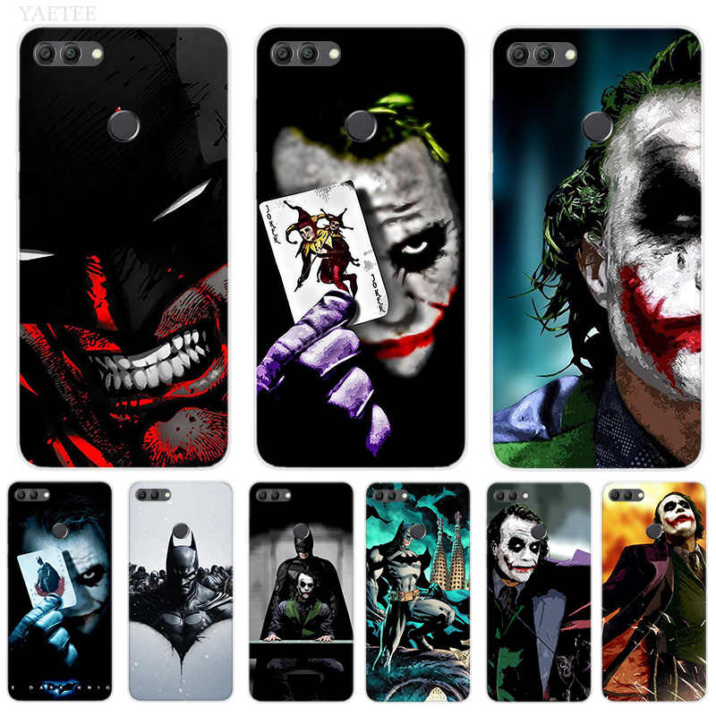 Silicone Hull Case For Huawei Y7 Y6 Y5 Prime Pro Y9 2019 2018 Honor 8X 8C Play 9 10 lite View 20 V20 Cover Batman Joker Dark Kni