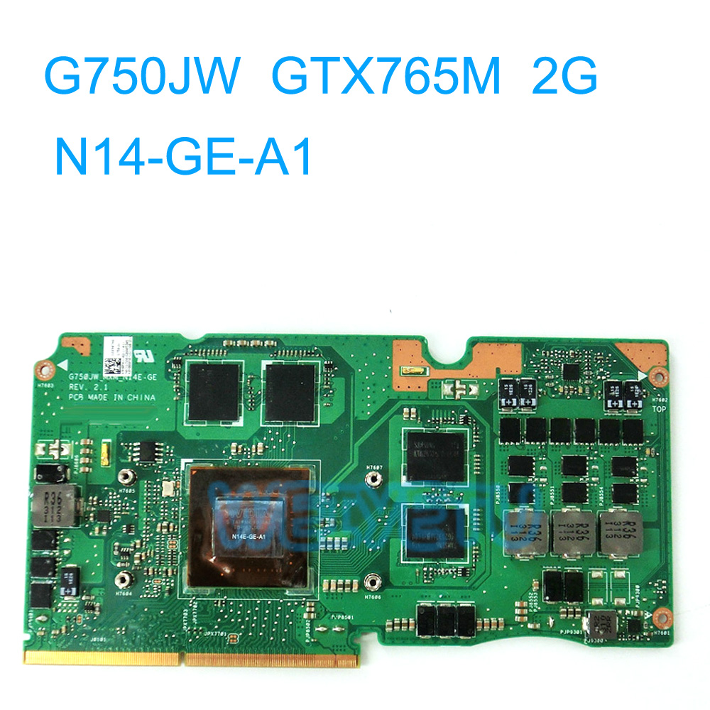 G750JW GTX 765 M 2 GB GPU carte graphique GPU pour Asus G750JS G750J G750JW ordinateur portable carte mère REV 2.1 VGA carte N14-GE-A1 100% testé
