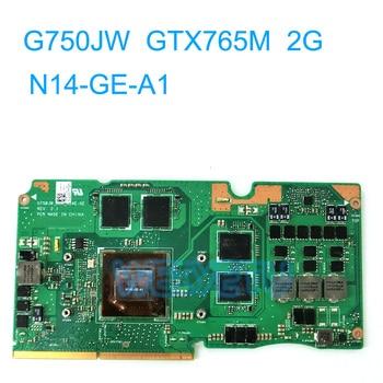 G750JW GTX 765M 2GB GPU tarjeta gráfica GPU para Asus G750JS G750J G750JW placa base de computadora portátil REV 2,1 VGA board N14-GE-A1 100% prueba