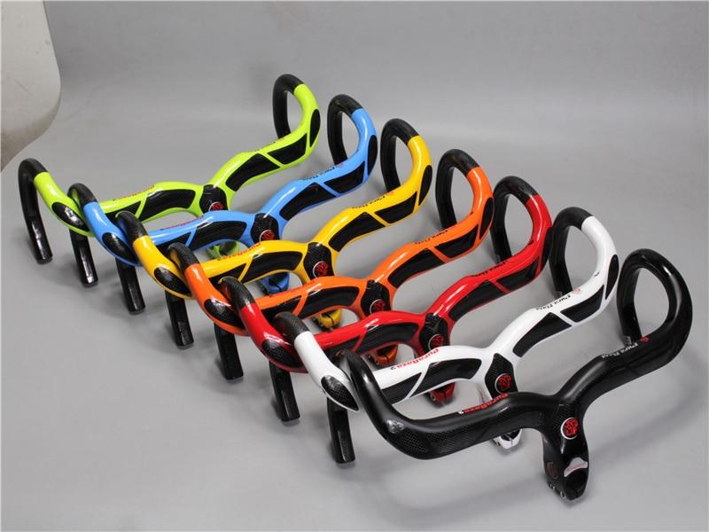 EC90 Нове вуглецеве волокно, зігнутий руль Дорожній велосипед зігнутий руль Перегоночне рульове вуглецеве волокно, зігнуте руль високої міцності