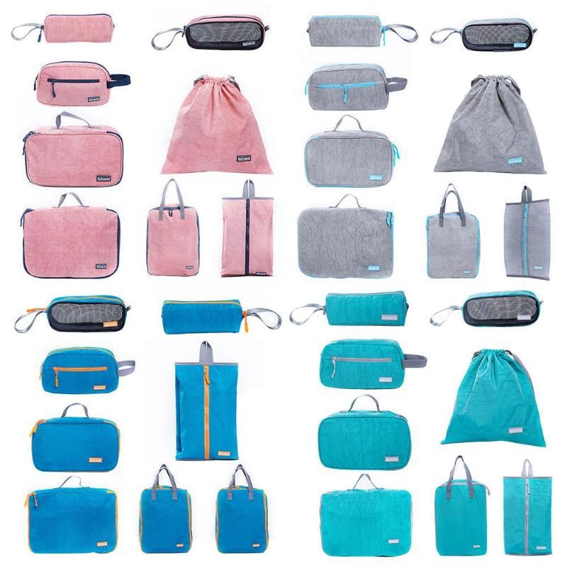8 pièces/ensemble chaussures imperméables vêtements sacs de rangement cordon sac support de pochette de rangement organisateur pochette organisateur pochette E5M1