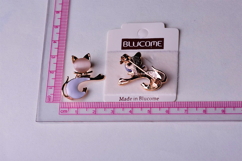 Cute Enamel Black Cat Pin