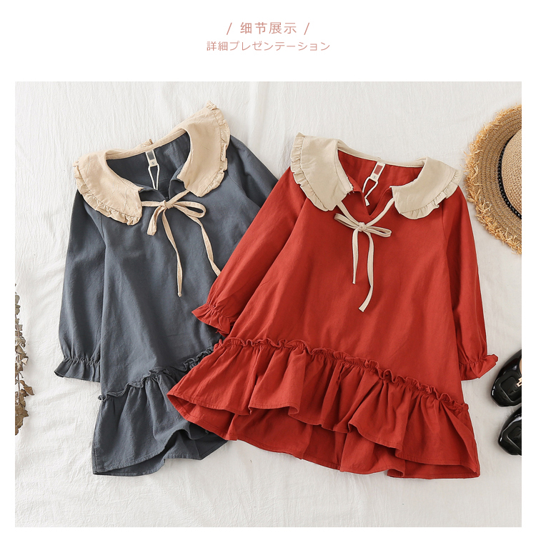 Baby Kids Fashion Ruffles Loose Princess Dresses Little Girls Cute Doll Dress Children's Spring Fall New Clothing One Piece A904