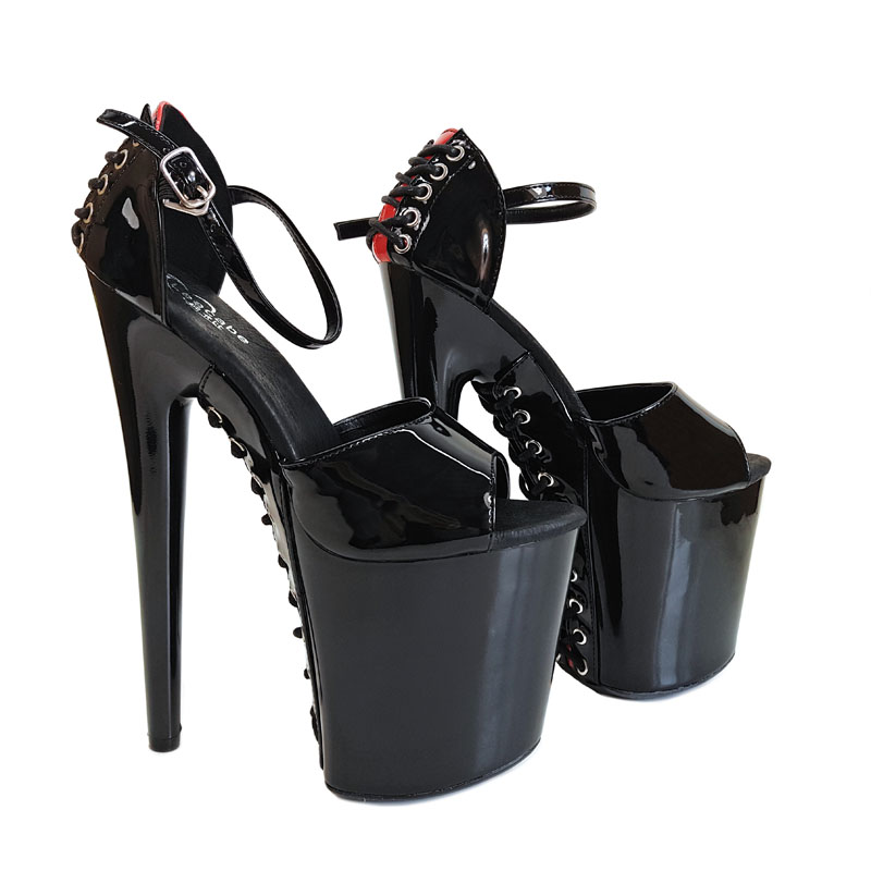 9cc16be5a00 Leecabe Beautiful Black Pole dancing shoes with 8inches High Heel ...