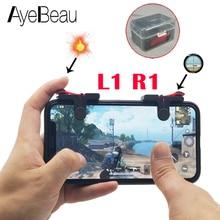 Купить с кэшбэком Trigger Pubg Mobile Controller Dzhostik Joystick For Smart Cellular Phone Android iPhone Gamepad Game Pad L1 R1 Dzhostiki L1R1