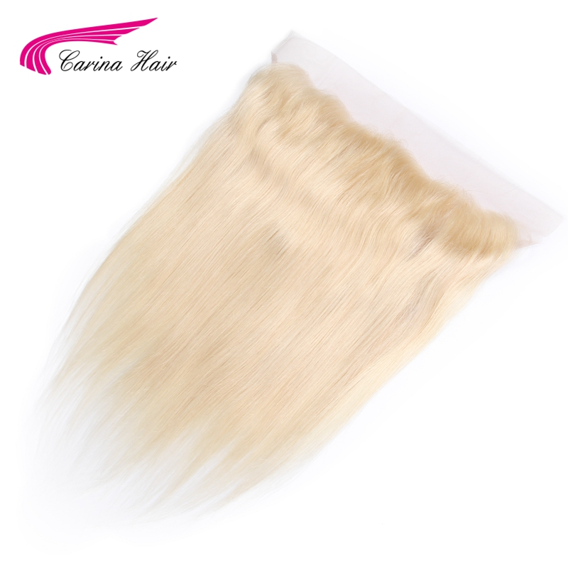 Carina Pure 613 13*4 Lace Frontal Closure Ear To Ear Swiss Lace Free Part Straight Hair Closure Brazilian Remy Human Hair