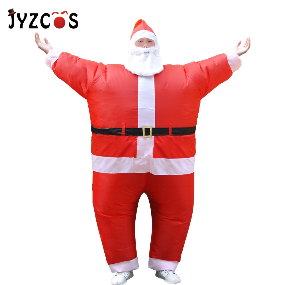 JYZCOS Santa Claus Inflatable Costume Adult Christmas Costume Mascot Costume Halloween Party Carnival Dress Up