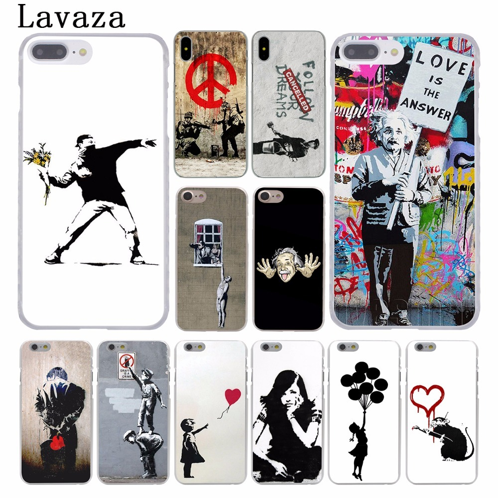 Lavaza Banksy Albert banksy palestine Hard Coque Shell Phone Case for Apple iPhone 8 7 6 6S Plus X 10 5 5S SE 5C 4 4S Cover