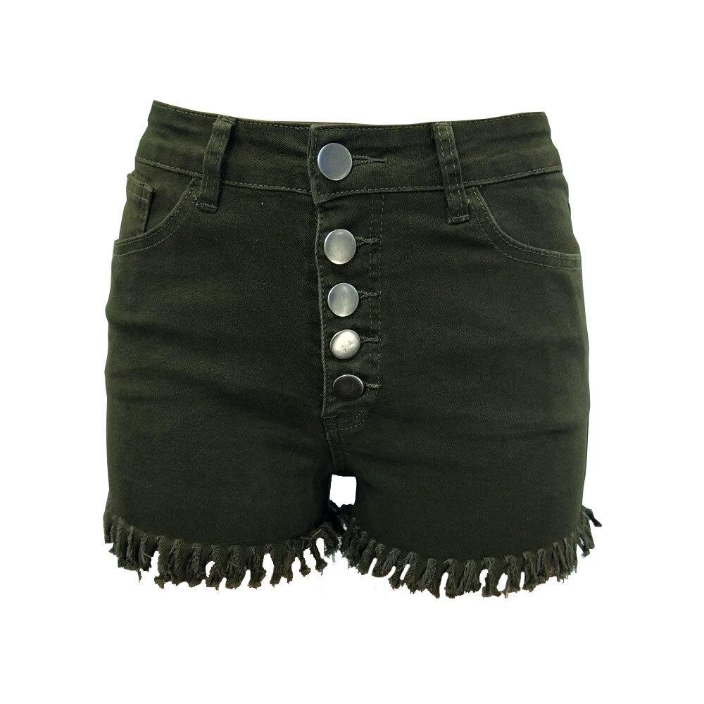 2019 Ripped Pocket Skinny Women Shorts Summer Casual High Waisted Denim Shorts Fashion Elastic Hot Shorts Denim For Women