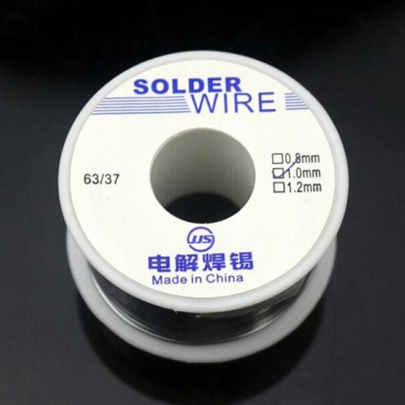 1PCS  0.8 1.0mm Welding Iron Soldering Sn25Pb75 Tin Lead Flux Solder Wire 50g