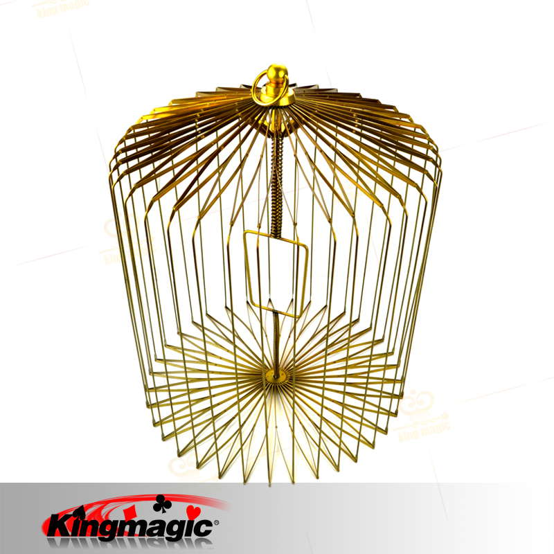 Large Appearing Bird Cage Gold Folding Dove Cage for Magicians Props Magic, Metal Magic Bird Cage Wholesale vintage bird cage shoes rose gold metal