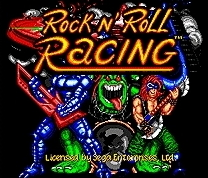 ROCK N ROLL RACING - 16 bit MD Games Cartridge For MegaDrive Genesis console