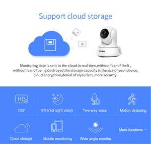 Image 2 - SECTEC 720P Cloud Storage IP Camera  Wireless WIFI cam Home Security Surveillance CCTV Network Camera Night Vision Baby Monitor