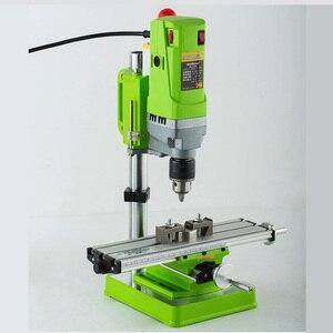 Image 5 - AMYAMY מיני מכונת קידוח מקדחת עיתונות ספסל קטן חשמלי תרגיל מכונת עבודת ספסל ציוד כונן 220V 710W האיחוד האירופי תקע 5156E