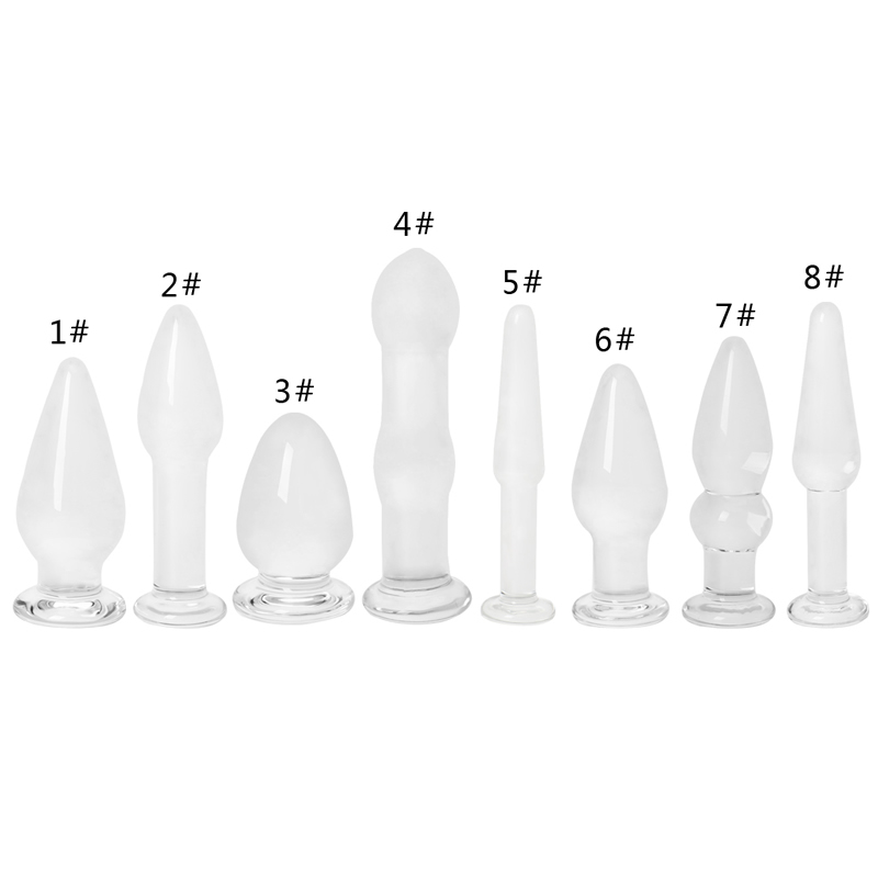 1PC Glass Anal Vaginal <font><b>Dildo</b></font> Butt Plug Beads Erotic Stimulator <font><b>Adult</b></font> <font><b>Sex</b></font> <font><b>Toy</b></font> image