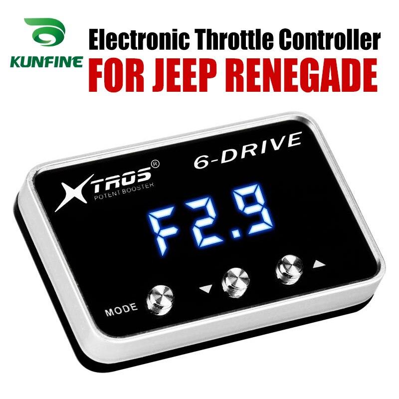 Accélérateur de course de contrôleur d'accélérateur électronique de voiture Booster puissant pour accessoire de pièces de réglage JEEP RENEGADE|Contrôleur d'accélérateur pour voiture électrique| |  -