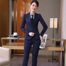 Новинка, форменный дизайн, брючные костюмы с куртками и брюками для женщин, деловая рабочая одежда, блейзеры и топы, женские брючные костюмы