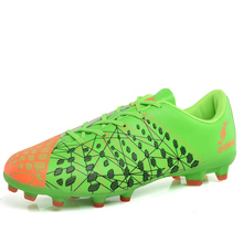 2018 Fashion Adult Outdoor Lawn Long Spikes Soccer Shoes Football Shoes FG Cleats Shoes Breathable Soccer Trainning Sneakers