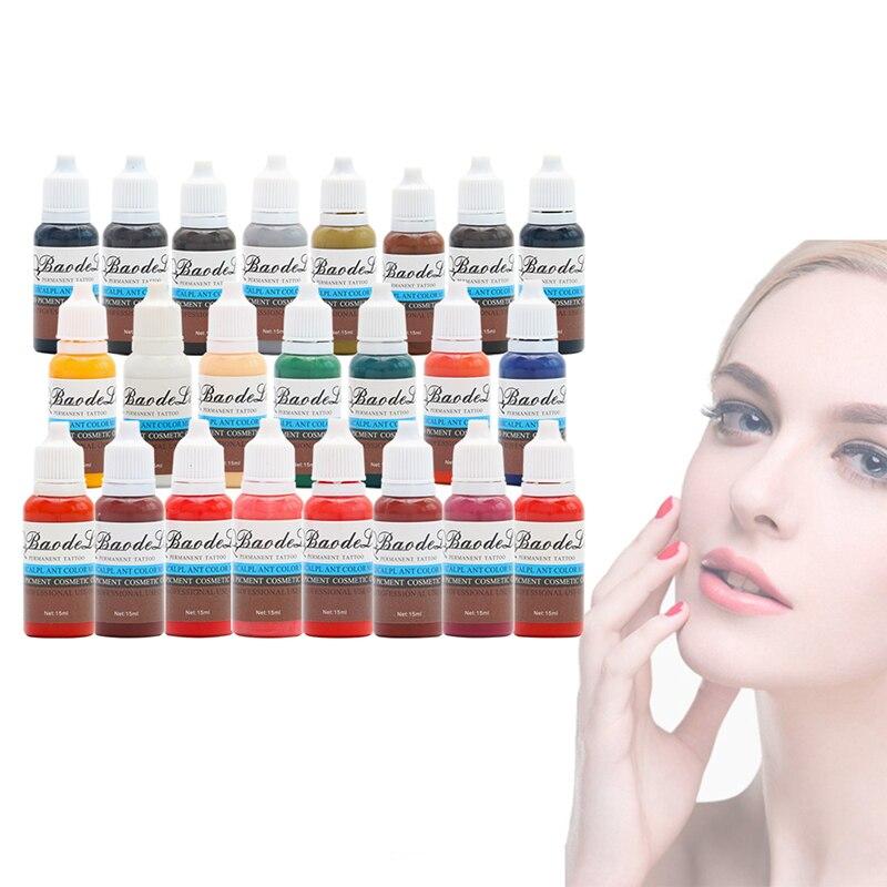 Schneidig 23 Farbe Permanent Make-up Augenbraue Tinten Lippen Auge Linie Tattoo Farbe Microblading Pigment Augenbraue Tattoo Farbe Tinten